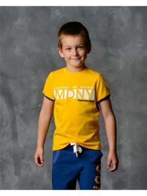 Футболка Modniy JUK. Цвет: желтый