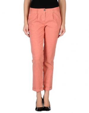 Повседневные брюки GOLD CASE. Цвет: коралловый