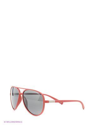Солнцезащитные очки Polaroid. Цвет: красный, черный