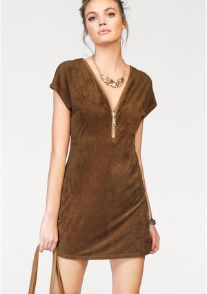 Платье MELROSE. Цвет: коричневый, черный