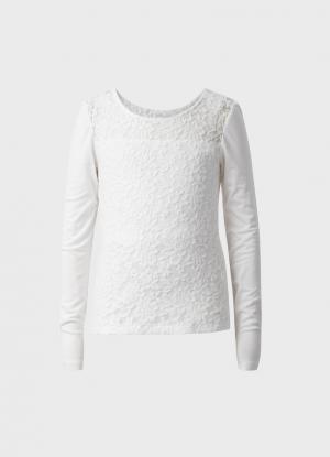 Блузка для девочек OSTIN. Цвет: жемчужно-белый