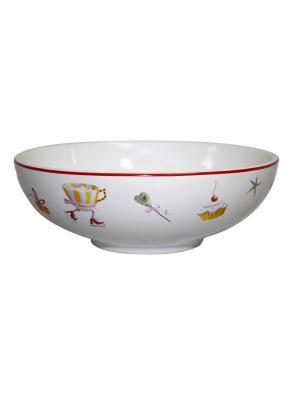 Салатник Веселый санта Д 15см 500 мл п/уп Elff Ceramics. Цвет: белый, зеленый, красный