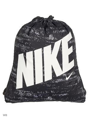 Рюкзак NIKE YA GRAPHIC GYMSACK. Цвет: черный, белый, серый