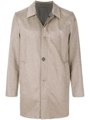 Двустороннее однобортное пальто Kired. Цвет: телесный