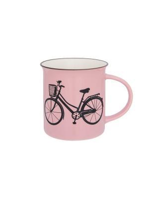 Кружка Велосипед Elan Gallery. Цвет: розовый