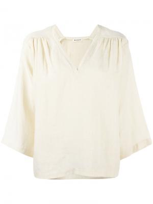 Свободная блузка Masscob. Цвет: телесный