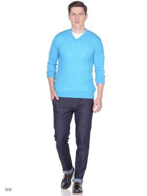 Пуловер Bilwelli. Цвет: светло-голубой