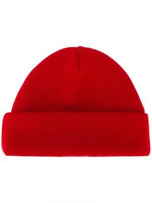 Вязаная шапка Études. Цвет: красный