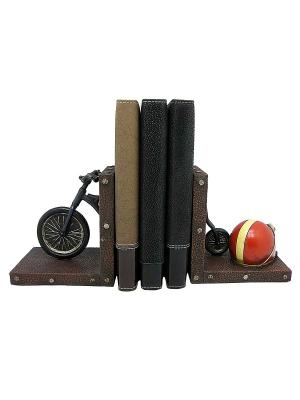 Набор держателей для книг Ретро велосипед Miolla. Цвет: черный