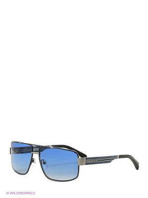 Солнцезащитные очки BLD 1635 401 GB SIGNATURE Baldinini. Цвет: синий, черный