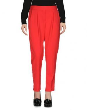 Повседневные брюки CHILI PEPPERS. Цвет: красный