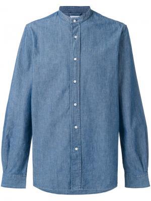 Джинсовая рубашка с воротником-стойкой Aspesi. Цвет: синий