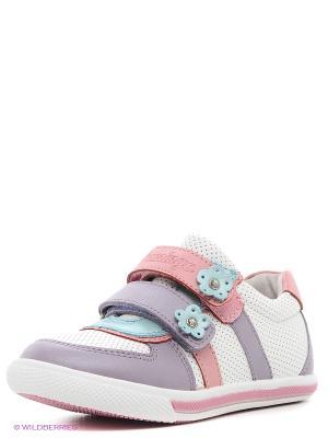 Ботинки Flamingo. Цвет: белый, бирюзовый, лиловый, розовый