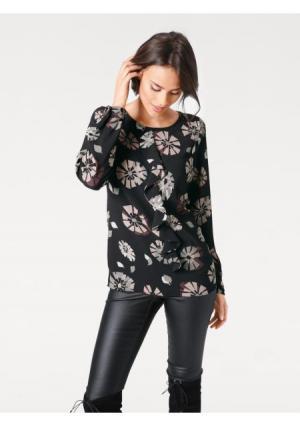 Блузка ASHLEY BROOKE by Heine. Цвет: черный/розовый