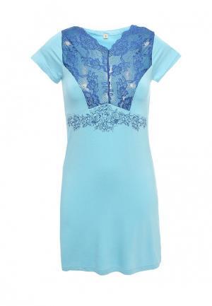 Сорочка ночная Infinity Lingerie. Цвет: голубой