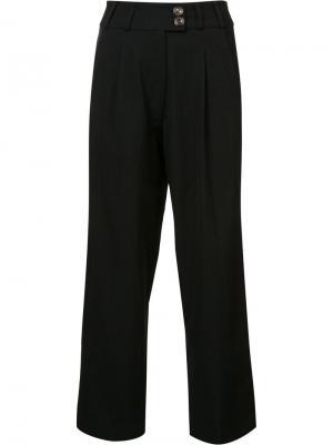 Укороченные брюки с завышенной талией Song For The Mute. Цвет: чёрный
