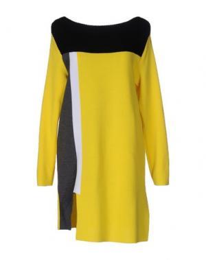 Короткое платье NEERA. Цвет: желтый