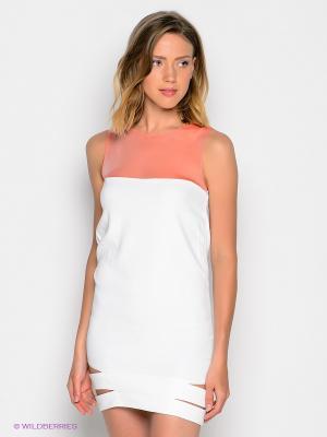 Платье DOCTOR E. Цвет: белый, коралловый