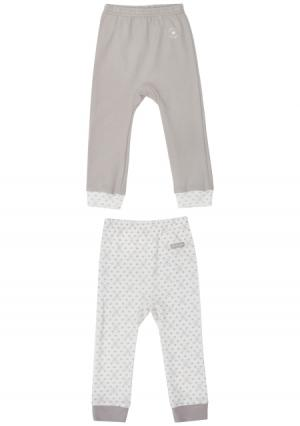 Комплект : штанишки 2 шт Lucky child. Цвет: бежевый