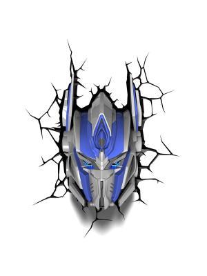 Пробивной 3D светильник TRNSFMR- Optimus Prime (Оптимус Прайм) Transformers. Цвет: синий, серебристый