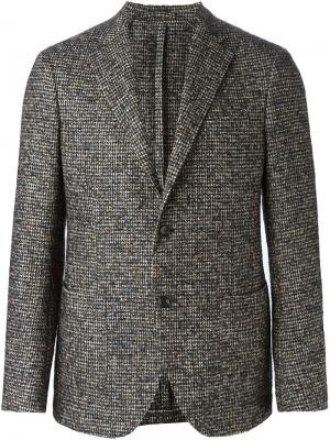 Пиджак с заостренными лацканами Delloglio Dell'oglio. Цвет: синий