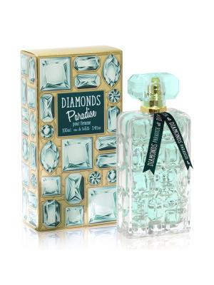 Туалетная вода Diamonds Paradise 100 ml/ж Diamond's. Цвет: прозрачный