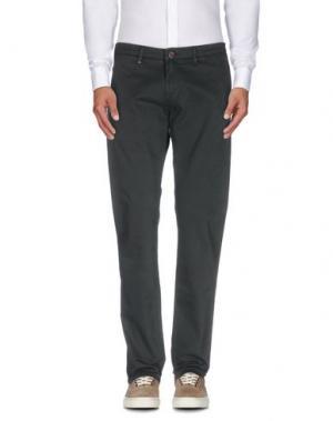 Повседневные брюки RE-HASH. Цвет: темно-зеленый