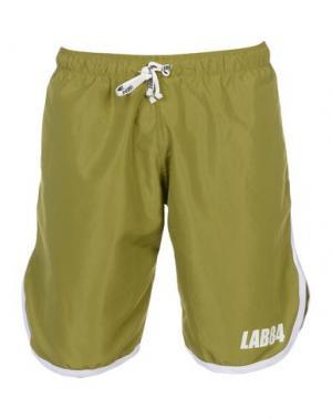 Пляжные брюки и шорты LAB84. Цвет: зеленый-милитари