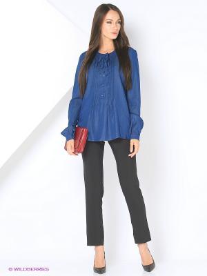 Блузка La Via Estelar. Цвет: синий