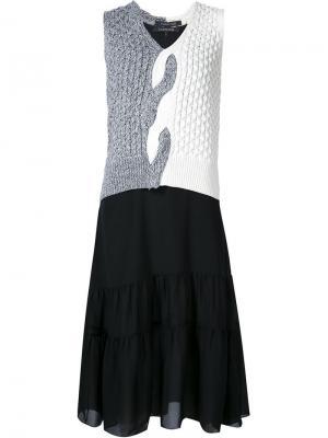 Платье с вязаными панелями Thakoon. Цвет: белый