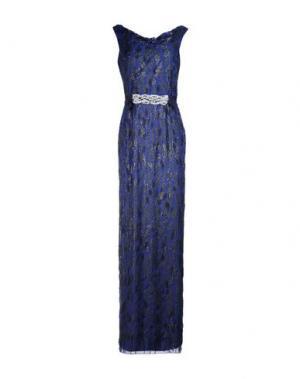Длинное платье JENNY PACKHAM. Цвет: темно-синий