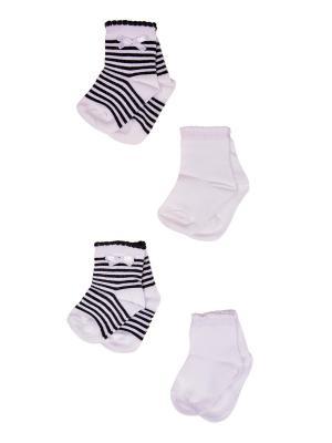 Носки, 4 пары Malerba. Цвет: черный