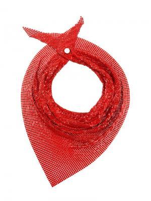 Платок с блестками Paco Rabanne. Цвет: красный