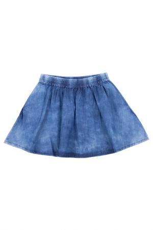 Юбка Gulliver. Цвет: голубая джинса