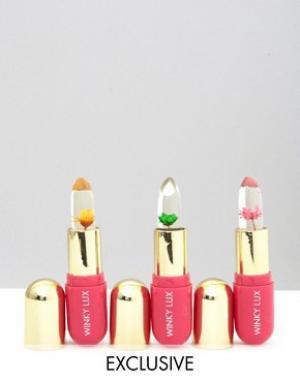 Winky Lux Набор бальзамов для губ с цветами эксклюзивно ASOS. Цвет: прозрачный