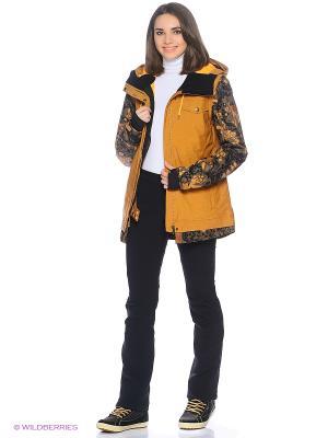 Куртка ROXY. Цвет: светло-коричневый