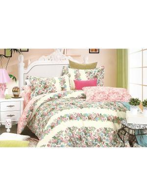 Комплект постельного белья, 1,5 спальный Sofi de Marko. Цвет: зеленый