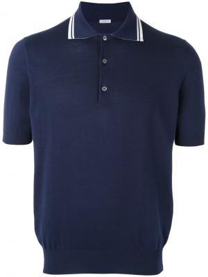 Классическая футболка-поло Malo. Цвет: синий