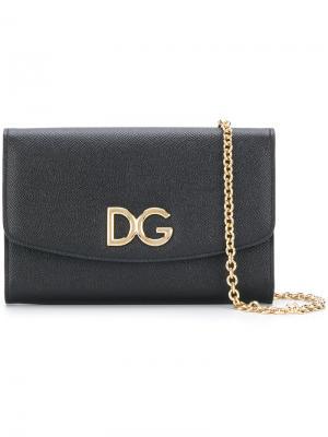 Кошелек на цепочке Dolce & Gabbana. Цвет: чёрный