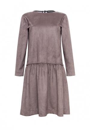 Платье Lucky Move. Цвет: коричневый