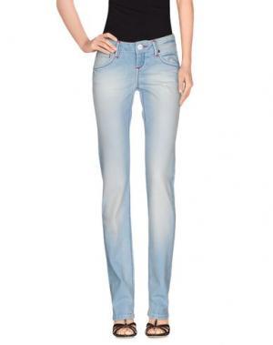 Джинсовые брюки SOCCX. Цвет: синий