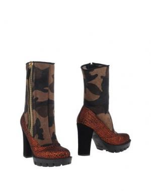 Полусапоги и высокие ботинки KRISTINA TI. Цвет: коричневый