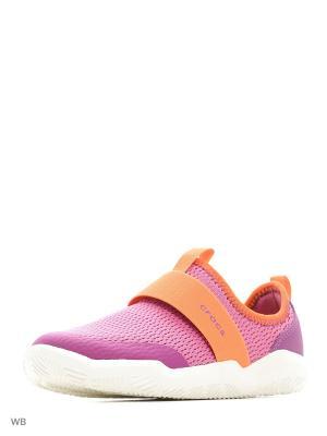 Кроссовки CROCS. Цвет: оранжевый, розовый