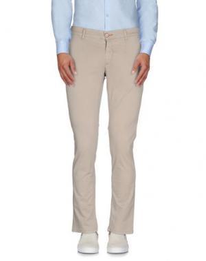 Повседневные брюки JULIAN KEEN. Цвет: песочный