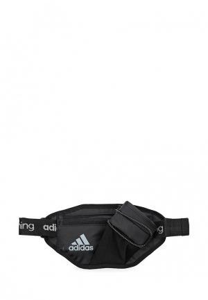 Сумка поясная adidas Performance. Цвет: черный
