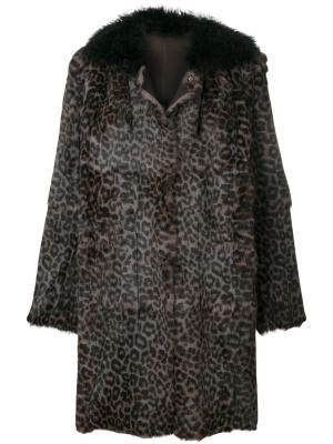 Leopard print coat Salvatore Santoro. Цвет: коричневый