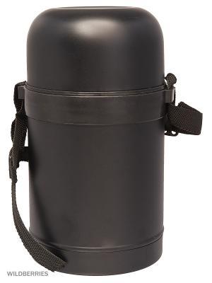 Термос металлический Суповой с широким горлом 0,75л черный Vetta. Цвет: черный