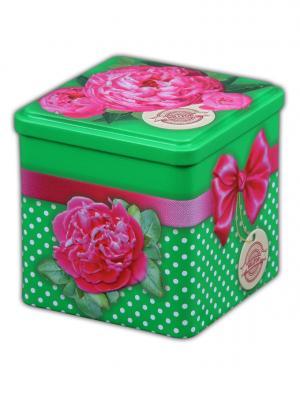 Чай Hilltop Праздничный 100г., кубик Бархатные пионы. Цвет: черный