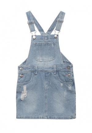 Платье джинсовое Modis. Цвет: голубой