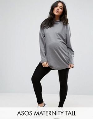 ASOS Maternity Леггинсы для беременных TALL. Цвет: черный